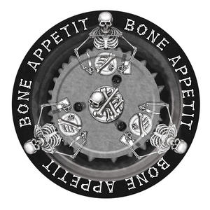 "Bone Appetit Large Plate 9"" (8pc) Halloween Party Tableware Paper Plates"