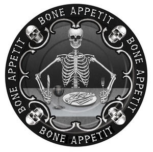 "Bone Appetit 7"" Plate Halloween Party Tableware Paper Plates"