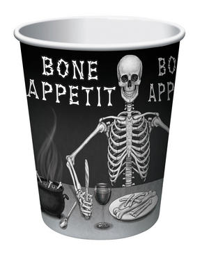 Bone Appetit Cup 9oz (8pc) Halloween Party Tableware