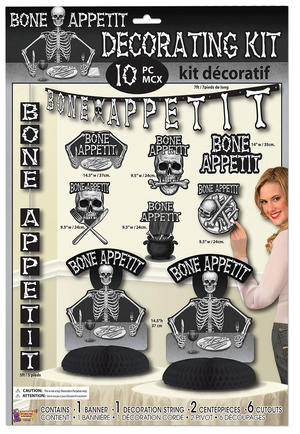 Bone Appetit Decorating Kit (10pc) Halloween Party Tableware