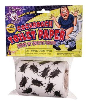 Cockroach Toilet Paper Halloween Fancy Dress Accessory