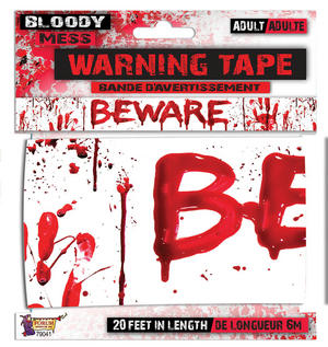 "Bloody ""Beware"" Warning Tape Halloween Party Tableware"