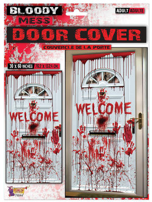 "Bloody ""Welcome"" Door Cover 75x150cm Halloween Party Tableware"