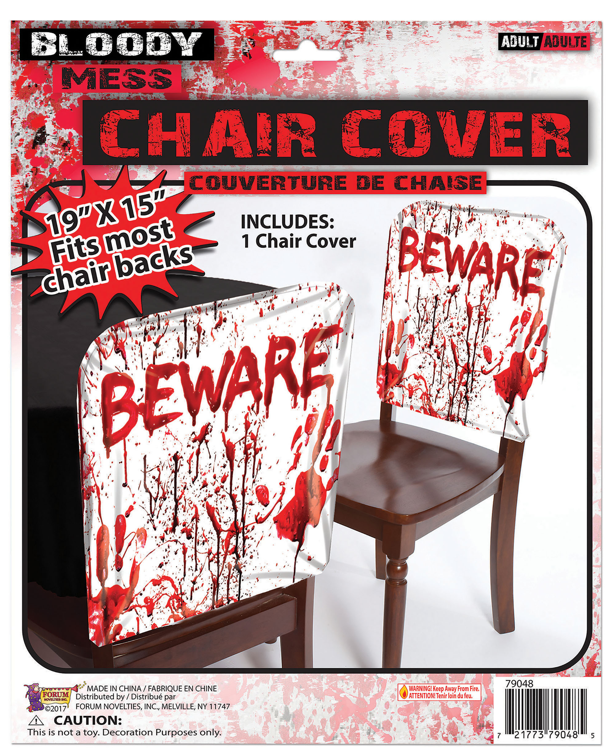 Bloody 'Beware' Chair Cover Halloween Party Tableware