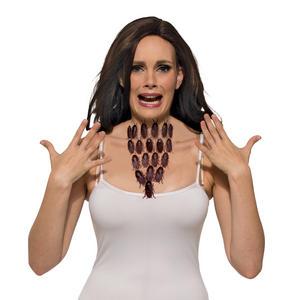 Cockroach Necklace Halloween Fancy Dress Accessory