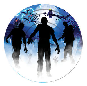 "Zombie Plate Large 9"" (8pc) Halloween Party Tableware Paper Plates"