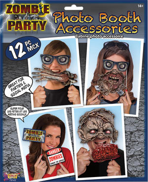 Zombie Photo Booth Kit Halloween Party Tableware