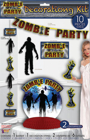Zombie Party Décor Set 10pc Halloween Party Tableware