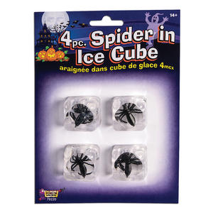 Spiders In Ice Cubes (4 pcs) Halloween Party Tableware