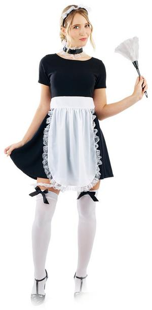 French Maid Kit Ladies Womens Fancy Dress Costume Sexy Cleaner Set