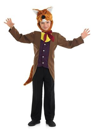 Kids Childs Mr Fox Fancy Dress Costume Fantastic Book Week Outfit 4-12 Yrs