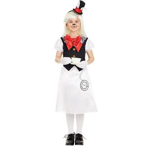 Girls Rabbit Fancy Dress Costume Kids Childs Outfit Alice In Wonderland 4-12 Yrs