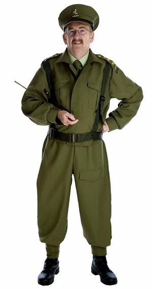 British World War Home Guard Fancy Dress Costume Mens Male Dads Army Outfit