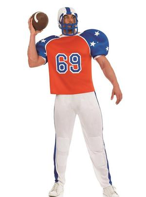 Mens American Football Fancy Dress Costume Male Stag Do Outfit