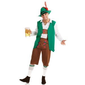 Men Traditional Bavarian Fancy Dress Costume Lederhosen Outfit Oktoberfest