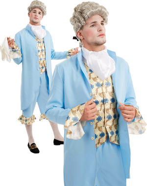 Mens Georgian Gent Fancy Dress Costume Regency Duke Gentleman Male Outfit
