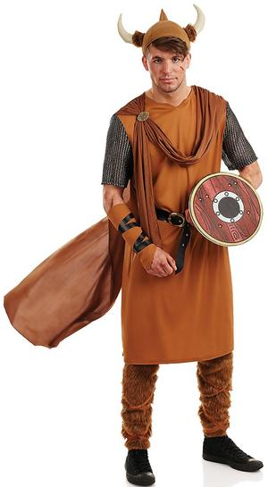 Mens Viking Warrior Fancy Dress Costume Outfit Stag Do Male New