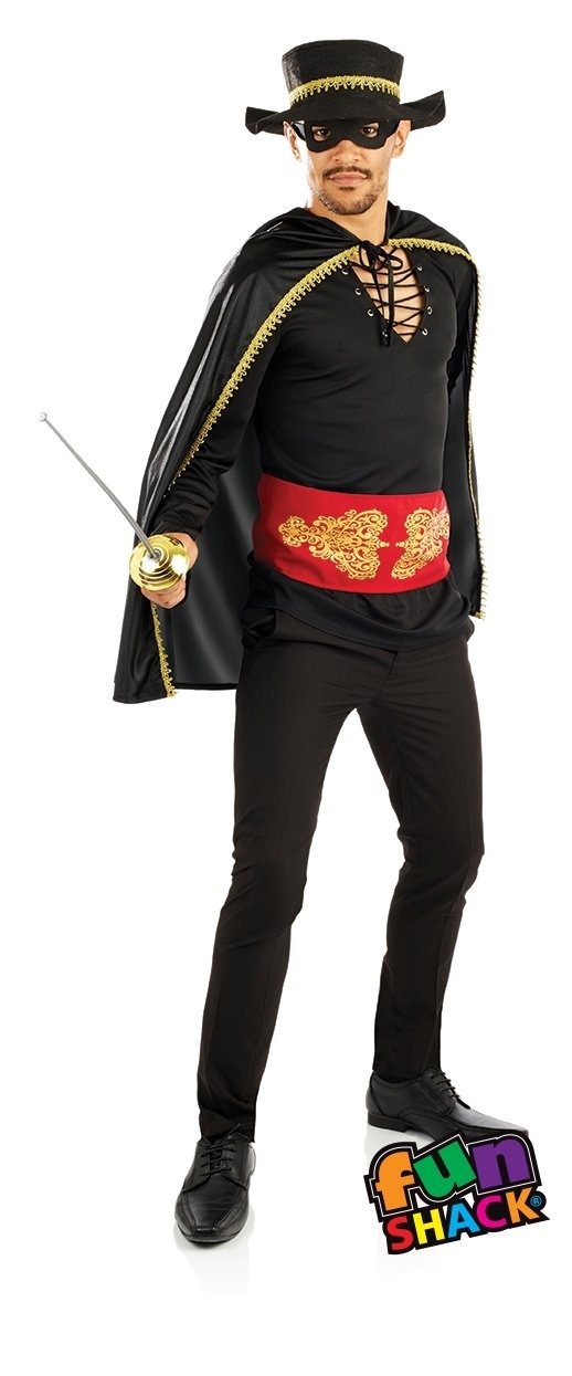Mens Male Masked Bandit Fancy Dress Costume Outfit Adult New Stag Do