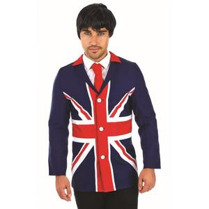 Mens Male 60s Union Jack Fancy Dress Mod Jacket Costume Outfit