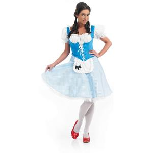 Ladies Dorothy Fancy Dress Costume Book Week Womens Outfit Wizard Of Oz