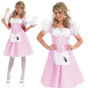 Ladies Womens Sexy Little Miss Muffet Fancy Dress Costume Outfit Adult