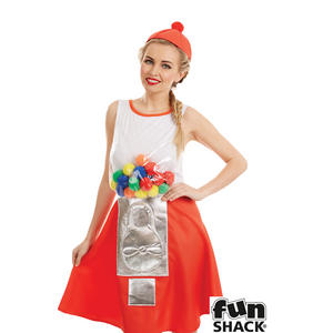 Ladies Womens Sweet Gumball Fancy Dress Costume Outfit New
