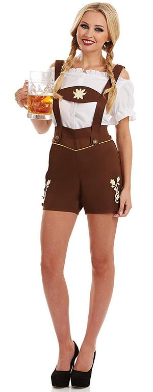 Ladies Womens Lederhosen Fancy Dress Costume Bavarian Outfit Oktoberfest