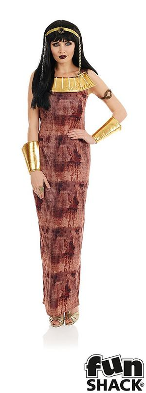 Ladies Womens Cleopatra Halloween Fancy Dress Costume Egyptian Outfit
