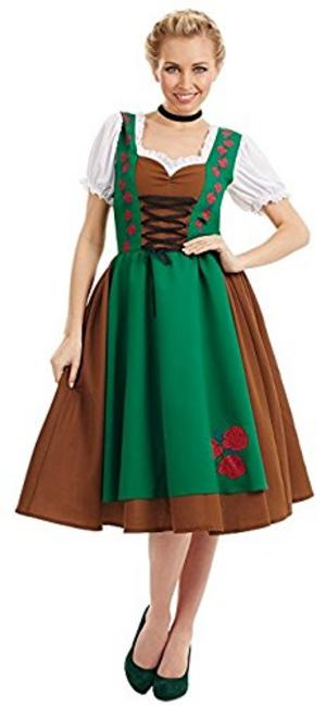Ladies Womens Traditional Bavarian Fancy Dress Costume Outfit