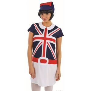 Ladies Womens Mod Girl Fancy Dress Costume Retro 60s Lady Outfit New