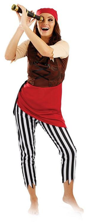 064c9072e Sentinel Ladies Womens First Mate Pirate Fancy Dress Costume Halloween  Outfit New