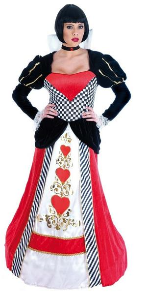 Gorgeous Ladies Queen of Hearts Fancy Dress Costume Womens Outfit Alice