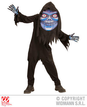 Boys Kids Childs Grim Reaper Big Head Costume Halloween Fancy Dress Costume Outfit 11-13 Yrs