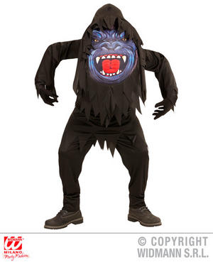 Boys Kids Childs Gorilla Big Head Costume Halloween Fancy Dress Costume Outfit 11-13 Yrs