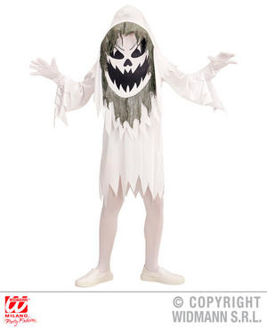 Boys Kids Childs Evil Ghost Big Head Costume Halloween Fancy Dress Costume Outfit 11-13 Yrs