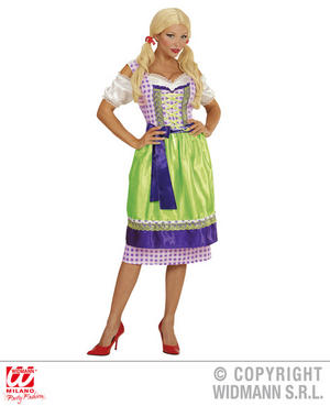 Womens Ladies Bavarian Dirndl Oktoberfest Fancy Dress Costume German Outfit Xl