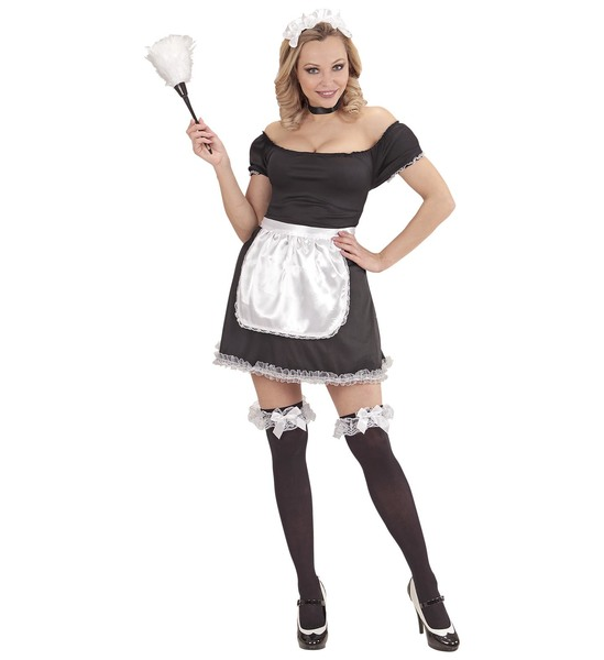 Womens Ladies Sexy French Maid Fancy Dress Costume Outfit UK 8-20 Adult