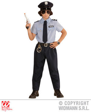Childs Kids Boys Police Officer Fancy Dress Costume Copper Outfit 2-13 Yrs