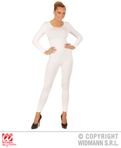 Womens Ladies White Bodysuit Leotard Ballerina Dance Show Costume Outfit Adult