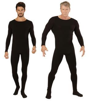 Mens Black Bodysuit Leotard Ballerina Halloween Fancy Dress Costume Outfit Adult
