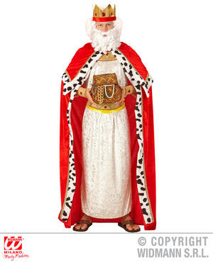 Mens Male Red King Cape Fancy Dress Costume Royal Prince Outfit Adult