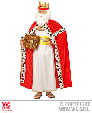 Childs Kids Boys Red King Cape Fancy Dress Costume Royal Prince Outfit 5-13 Yrs