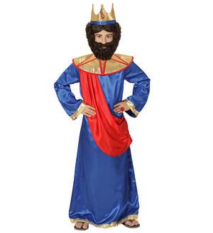 Childs Kids Boys Blue King Christmas Nativity Fancy Dress Costume 4-13 Yrs
