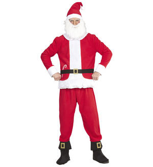 Mens Father Christmas Santa Claus Fancy Dress Costume Festive Xmas Outfit Adult