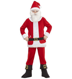 Childs Kids Santa Claus Fancy Dress Costume Father Christmas Outfit 4-13 Yrs