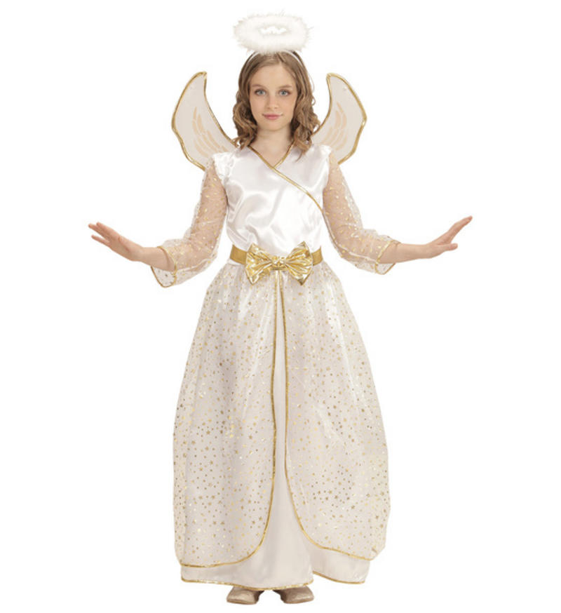 Childs Kids Christmas Angel Fancy Dress Costume School Nativity Outfit 2,13  Yrs