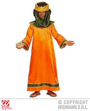 Childs Kids Orange King Christmas Nativity Fancy Dress Costume Children 4-13 Yrs