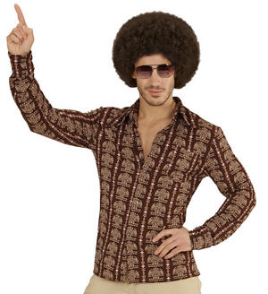 Mens 1970S Groovy 70'S Shirt Fancy Dress Costume Night Fever 1970s Outfit Adult