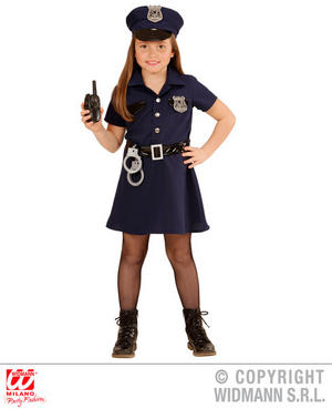 Childs Kids Police Patrol Girl Copper 999 Fancy Dress Costume Outfit 4-13 Yrs
