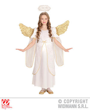Childs Kids Angel Girl Christmas Nativity Fancy Dress Costume Outfit 2-13 Yrs